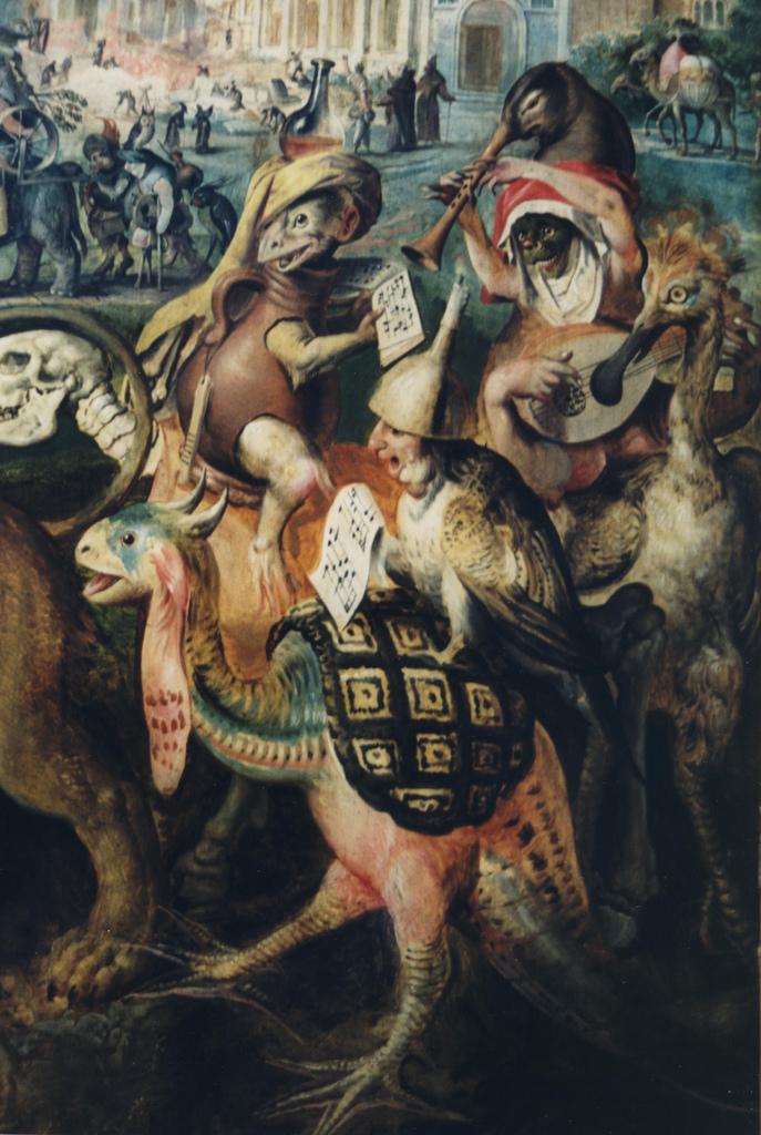 Marten de Vos. A Tentação de Santo Antão, c. 1591-1594). Pormenor