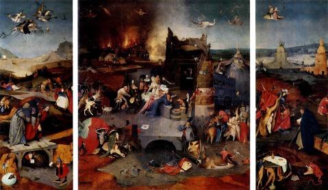 Hieronymus Bosch. Tentações de Santo Antão. 1502