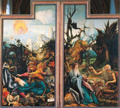 Matthias Grunewald. A Tentação de Santo Antão, c. 1512 - 16