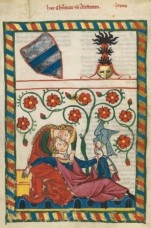 Codex Manesse, Herr Conrad von Altstetten, c1340, Zurich.