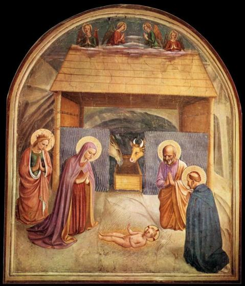 Fra Angelico. Frescos de São Marcos. A Natividade. 1440-41