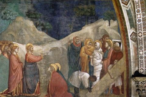 Giotto. Ressurreição de Lázaro. 1320s