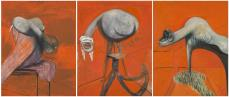 Francis Bacon. Three Studies for Figures at the Base of a Crucifixion. c.1944