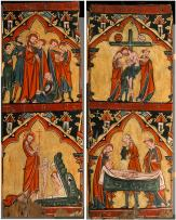 02. Scenes from the Life of Chris. Arrest of Christ, Christ in Limbo. Descent from the Cross, Preparation of Christ's Body for His Entombment. S´c. XIII.