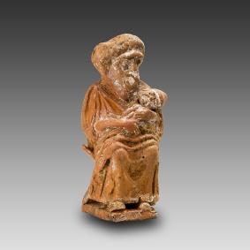 07. Ama grotesca sentada com o bebé. Grécia, séc. IV a.C.