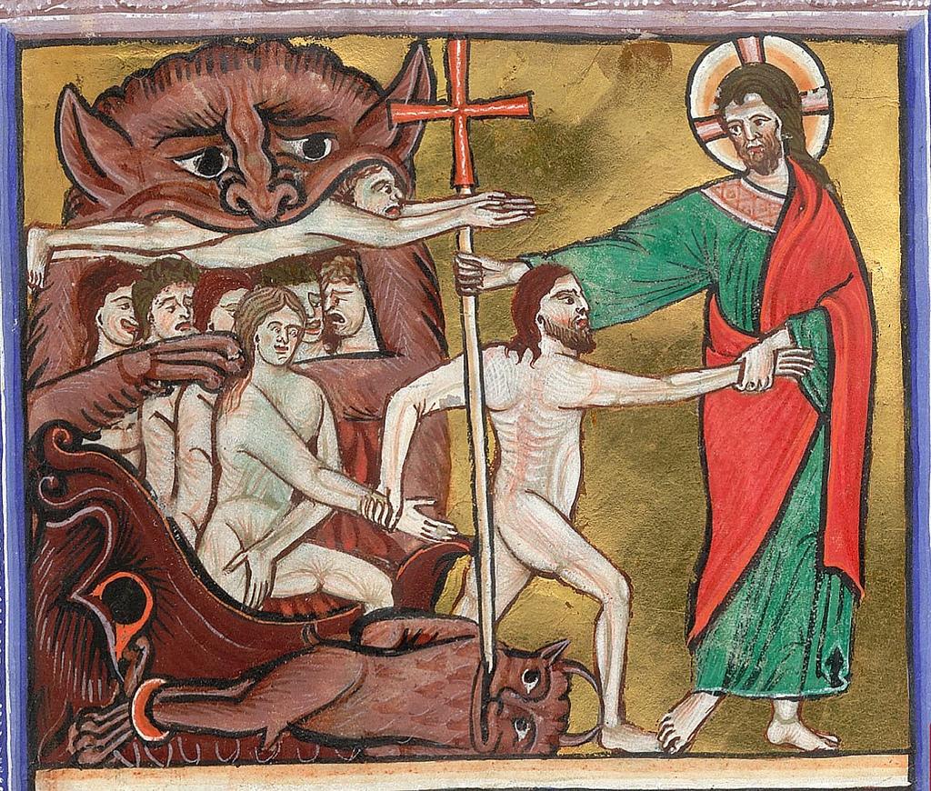 10. Harrowing of Hell. England, c 1240.