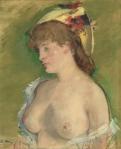 15. La blonde aux seins nus, par Édouard Manet. 1878