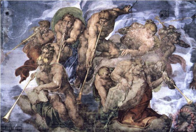 Michelangelo. Detalhe do Último Julgamento, na Capela Sistina.