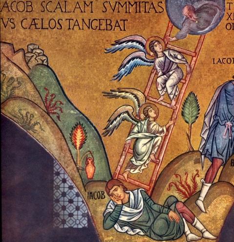 O Sonho de Jacob. Capela Palatina de Palermo. Itália. Meados do séc. XII.