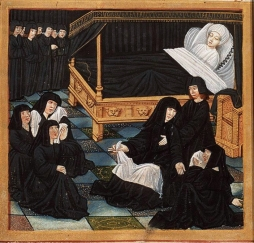 The deathbed of Philippes de Commines. France. 1512.