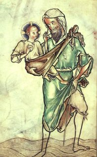 St. Christopher, from the Westminster Psalter, c. 1250