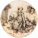 08. Aristóteles y Filis - Maestro del Gabinete de Estampas de Amsterdam (ca. 1485)
