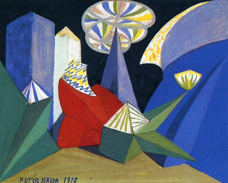 12. Giacomo Balla. Sketch for the ballet by Igor Stravinsky Fireworks. 1915.