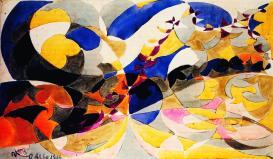 13. Giacomo Balla. Future (study). 1918.