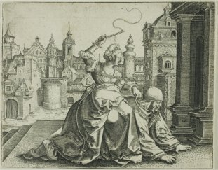 16. Hans Brosamer. Phyllis Rides Aristotle. 1520-1551