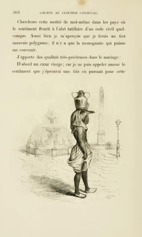 J.J. Grandeville. Course de Clocher Conjugal, D'Un Autre Monde. 1844.