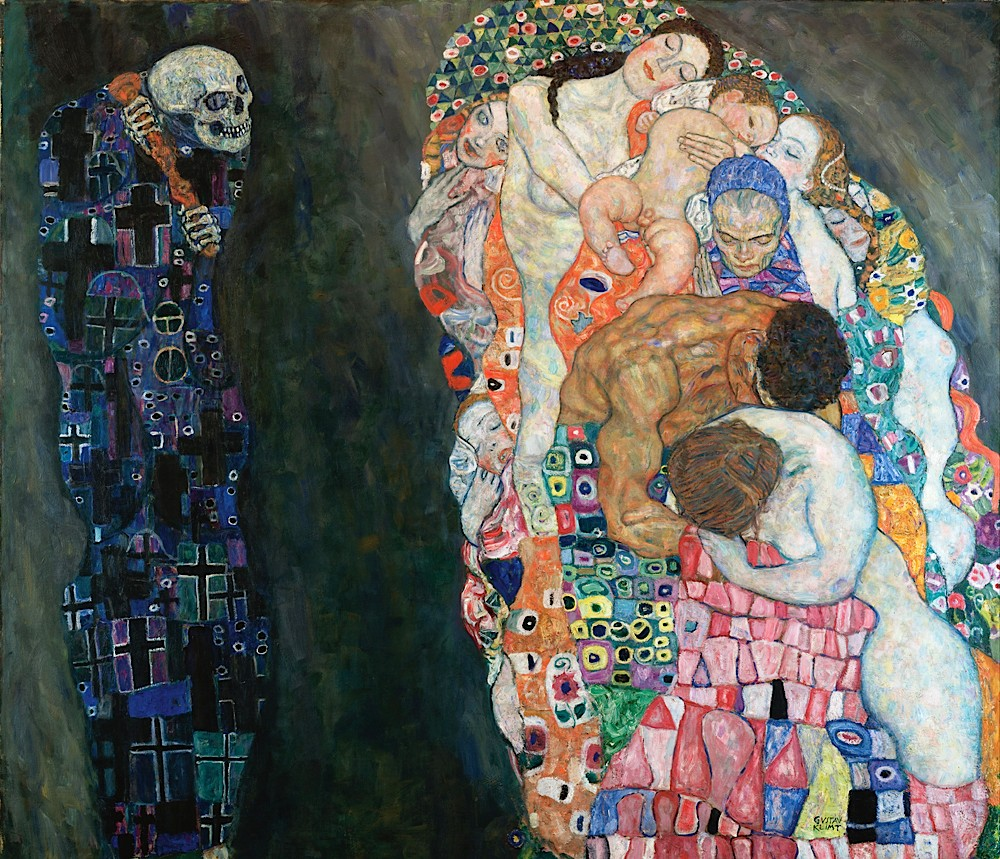 Gustave Klimt. A Morte e a Vida. 1915
