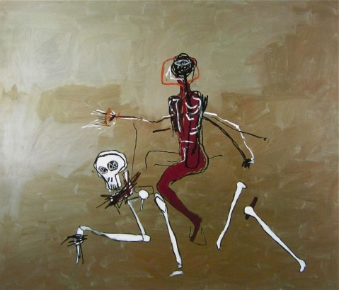 'Riding with Death' by Jean-Michel Basquiat. 1988.