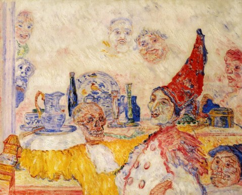 1925-1930-james-ensor-pierrot-and-yellow-skeleton