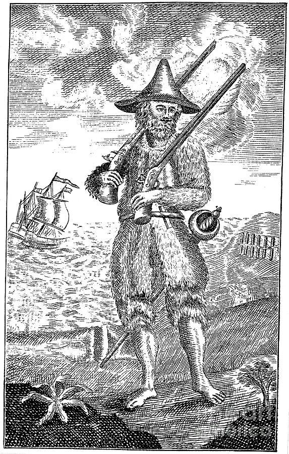Robinson Crusoe by Granger. 1744.
