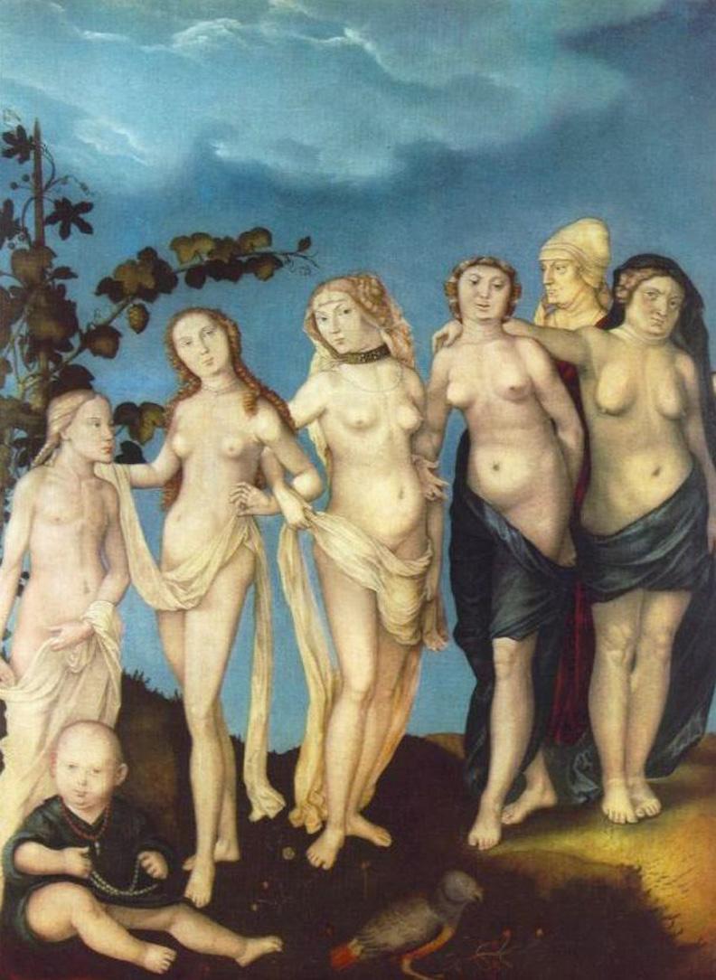 7. Hans Baldung. As Sete Idades da Mulher. Início do séc. XVI.