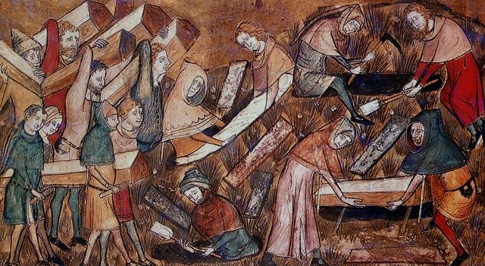 enterrement-de-victimes-de-la-peste-a-tournai-chroniques-et-annales-de-gilles-le-muisit-sec-xiv