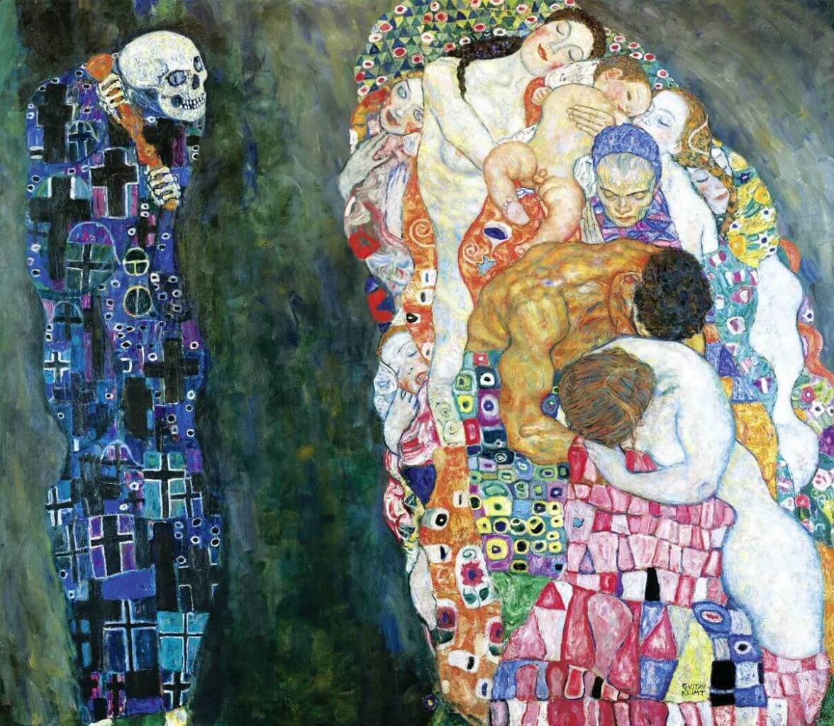 Gustav Klimt. A morte e a vida. 1915.