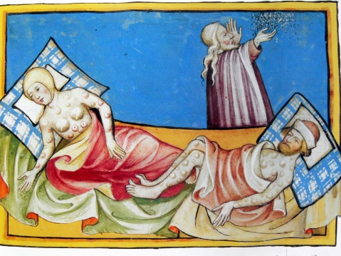 illustration-of-the-black-death-from-the-toggenburg-bible-1411