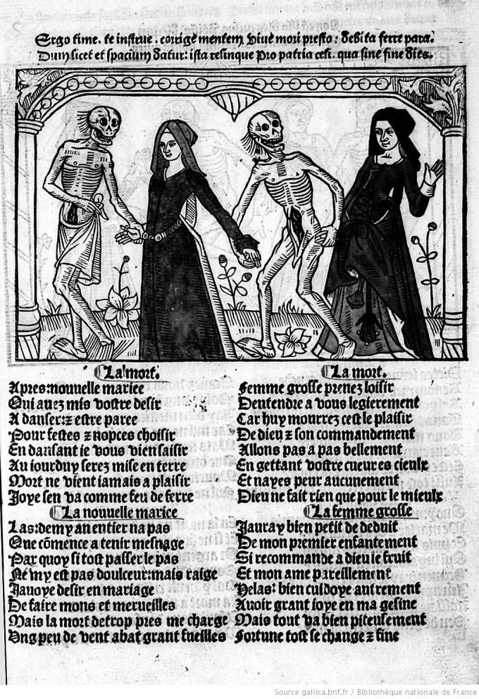 illustrations-de-cy-est-la-danse-macabre-des-femmes-toute-hystoriee-et-augmentee-1491-une-jeune-mariee-et-une-femme-enceinte