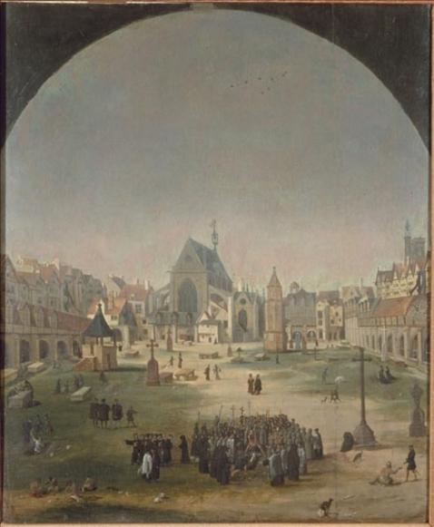 le-cimetiere-et-leglise-des-saints-innocents-jakob-grimer-attribue-a-vers-1570-musee-carnavalet