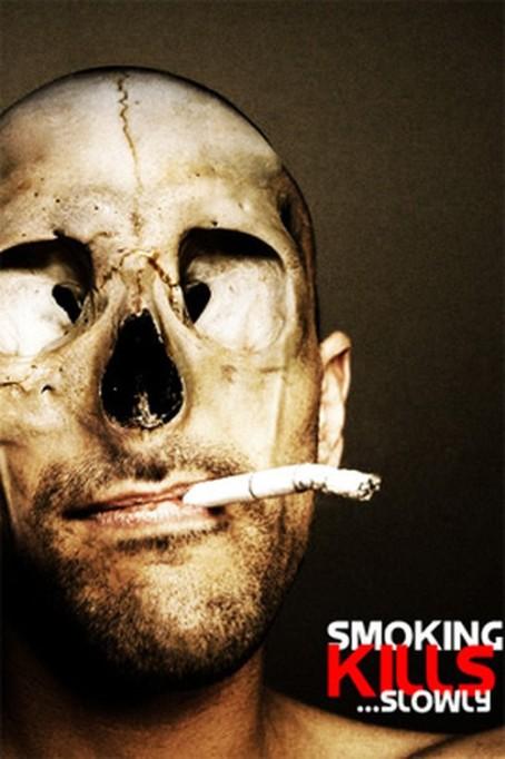 Anúncio anti-tabaco. Smoking kills slowly