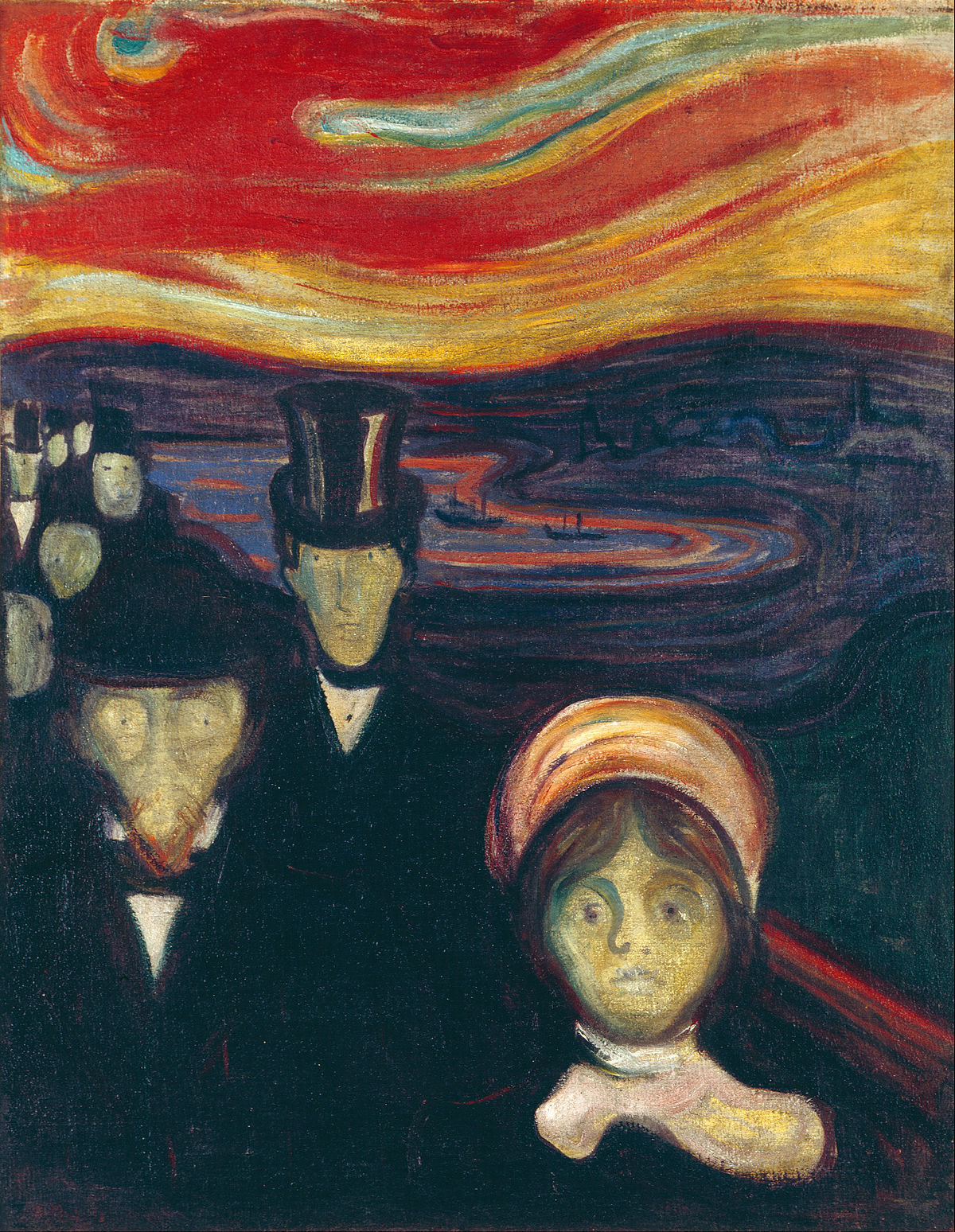 Edvard Munch. Ansiedade. 1894.