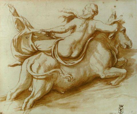 Giulio Romano. O rapto de Europa. Fim do séc. XVI.