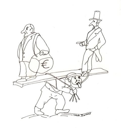 Caricatura de Celeste Semanas
