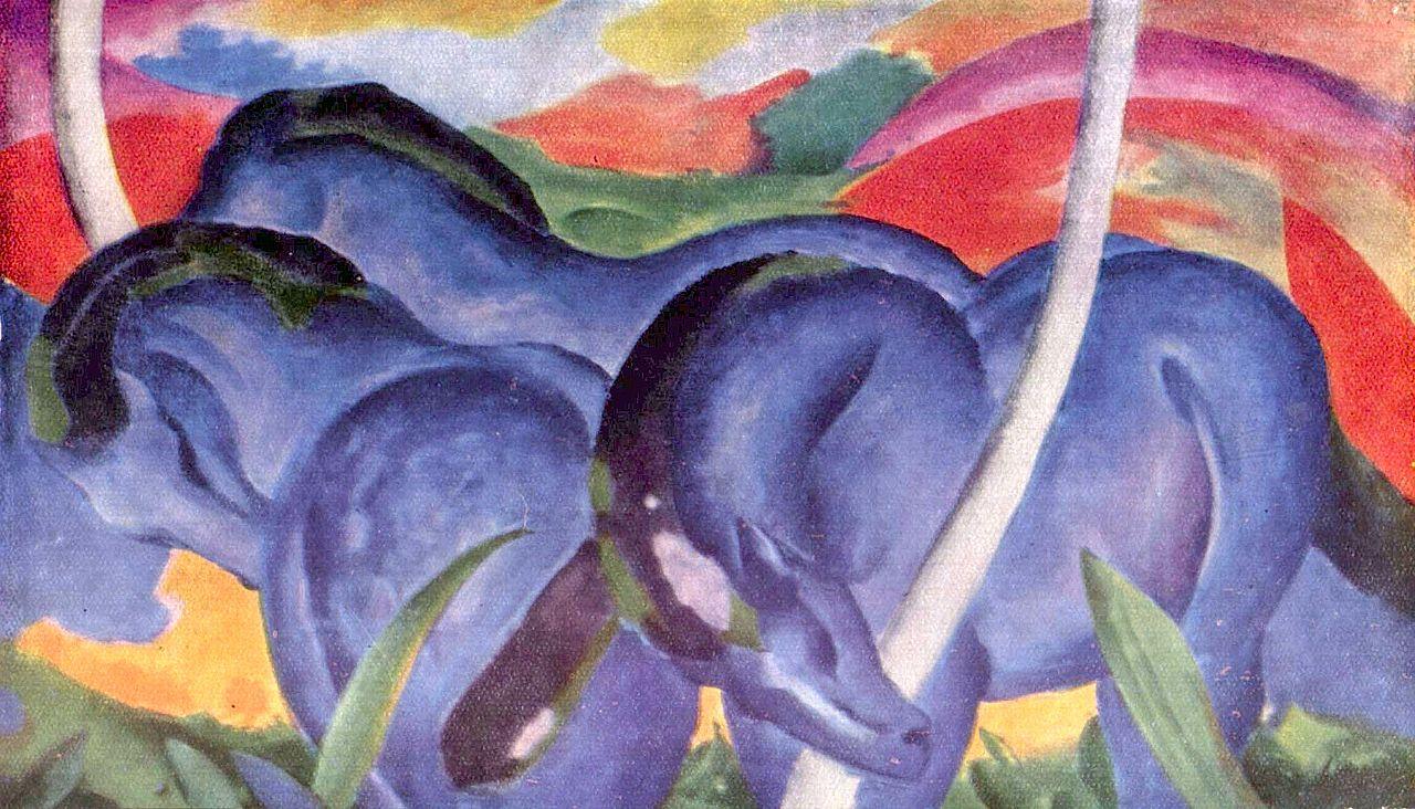 Franz Marc. Die großen blauen Pferde. 1911.
