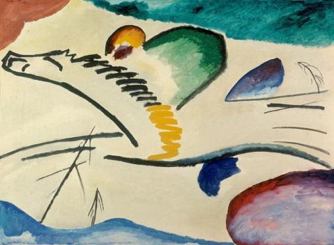 """kandinsky """"Lyrisches"""" (Reiter zu Pferd), 1911."""