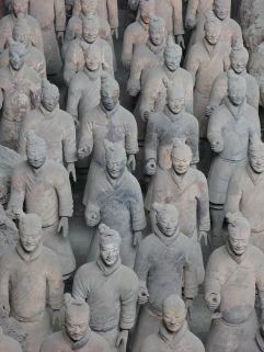Exército com 8 000 guerreiros perto de Xi'an na China. Séc. III aC.