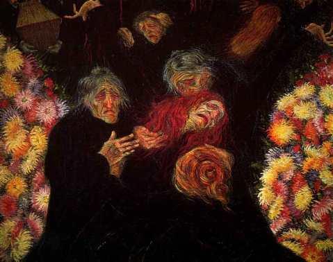 Umberto Boccioni. Luto. 1910.
