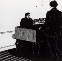 Umberto Boccioni. Pianist and Listener, 1908.