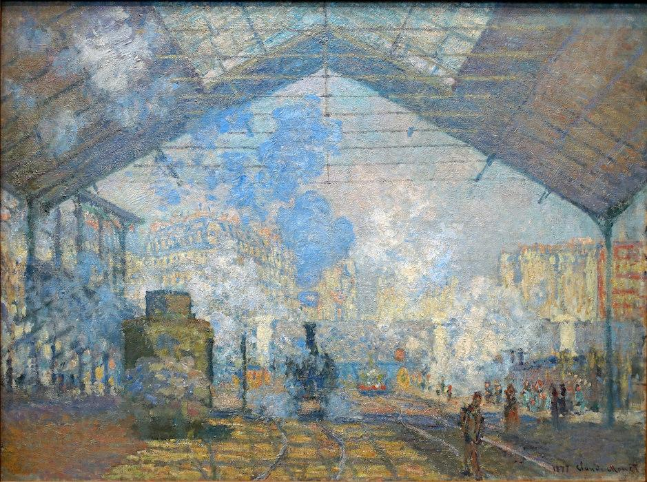 Claude Monet, The Gare Saint-Lazare (or Interior View of the Gare Saint-Lazare, the Auteuil Line), 1877