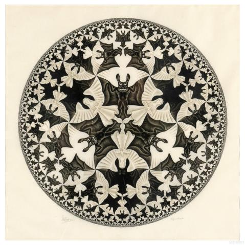 M.C. Escher, Circle Limit IV (1960) The angels and devils