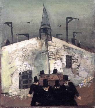 03 Felix Nussbaum. Gallows (also known as Funeral). Ca 1930.