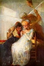 """Goya. """"Las viejas"""". 1810-1812. Öleo sobre lienzo. 181 cm. x 125 cm. Musée des Beaux-Arts, Lille."""