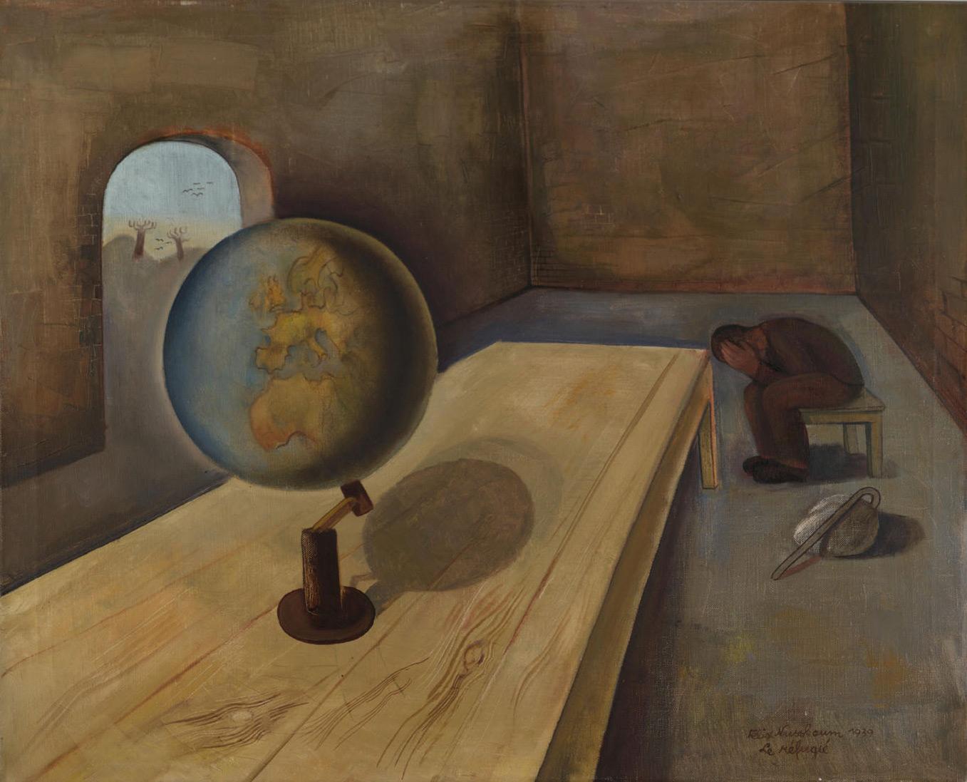 14 Felix Nussbaum. The refugee. 1939.