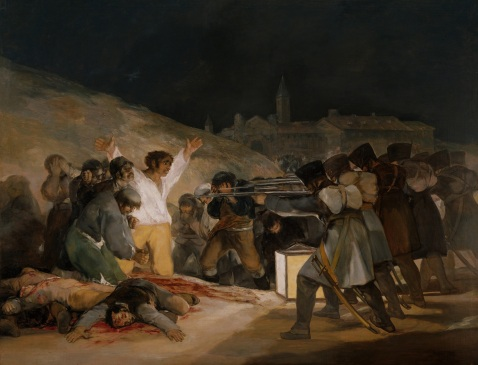 Goya. O Fuzilamento de 3 de Maio de 1808. 1814.
