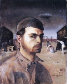 17 Felix Nussbaum. Self-Portrait in the Camp. 1940.