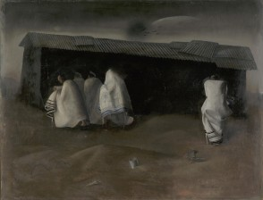"19 Felix Nussbaum, ""Camp Synagogue at Saint Cyprien"", 1941"
