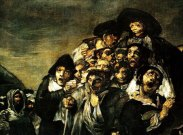 Francisco Goya's The Pilgrimage of St. Isidro (detail) 1821-23