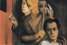23 Felix Nussbauim. Self-Portrait in a Shroud (Group picture), 1942