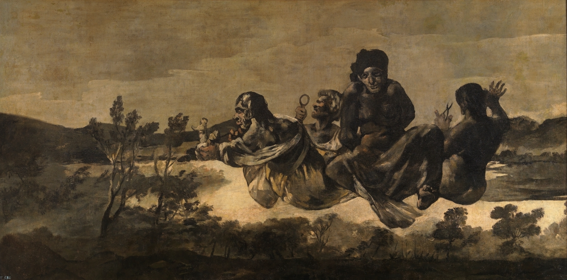 Goya. Atropos ou As Parcas. 1820-1823